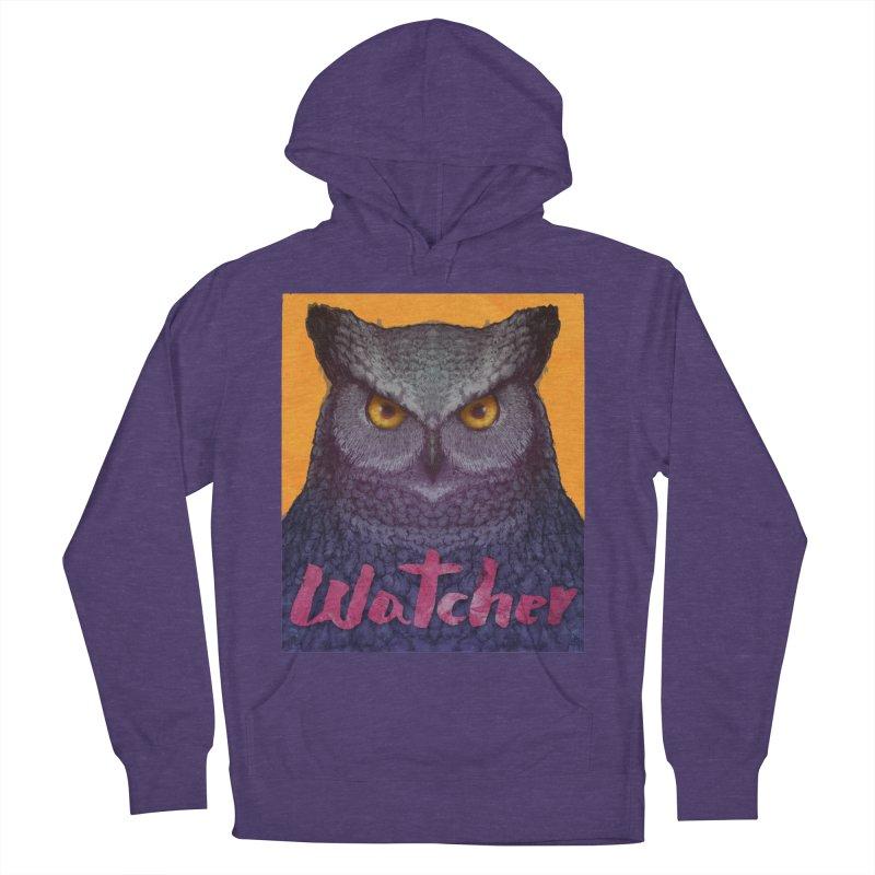 Owl Watcher Men's Pullover Hoody by villainmazk's Artist Shop