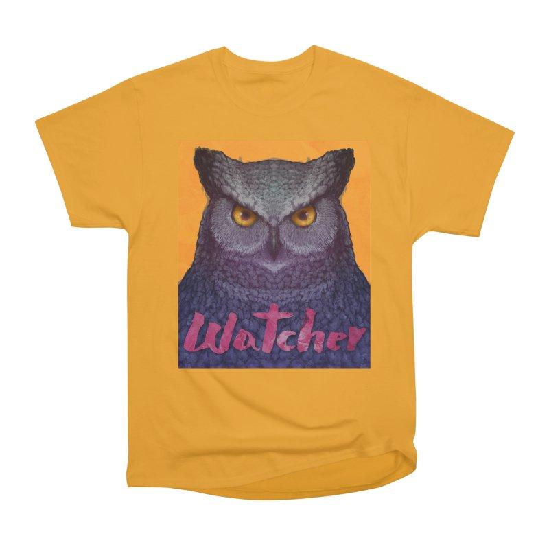 Owl Watcher Women's Classic Unisex T-Shirt by villainmazk's Artist Shop