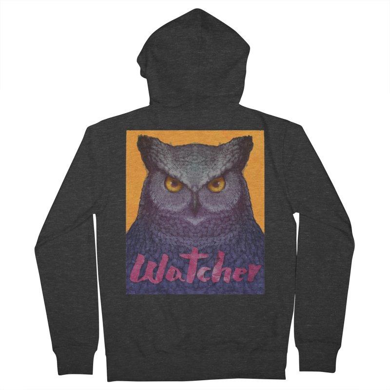 Owl Watcher Women's Zip-Up Hoody by villainmazk's Artist Shop