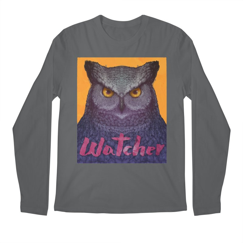 Owl Watcher Men's Longsleeve T-Shirt by villainmazk's Artist Shop