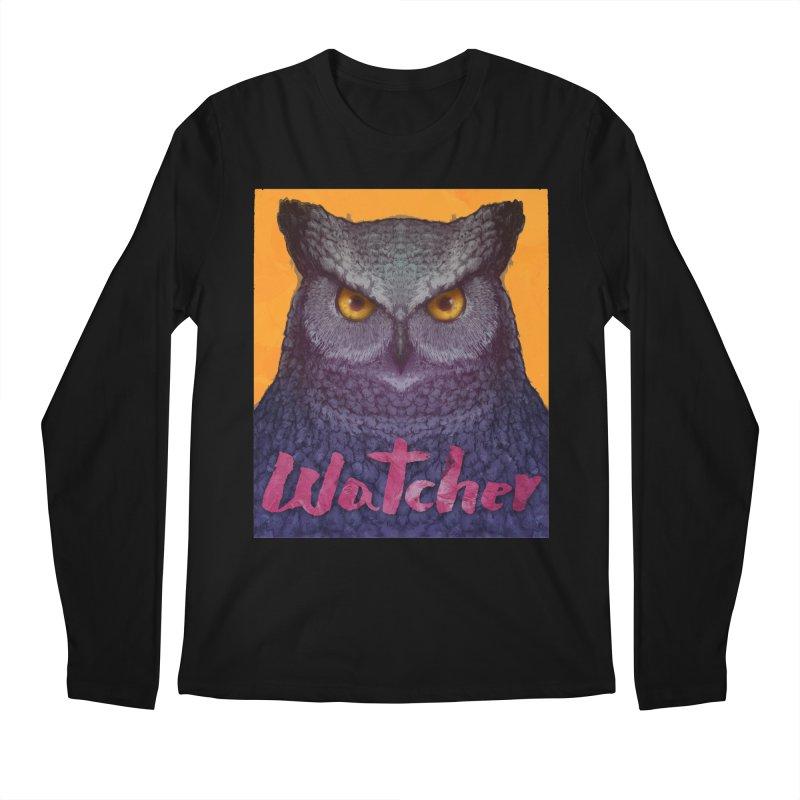 Owl Watcher Men's Longsleeve T-Shirt by villainmazk's Artist Shop