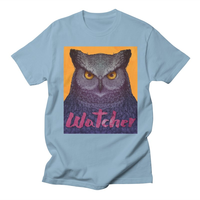 Owl Watcher Men's T-shirt by villainmazk's Artist Shop