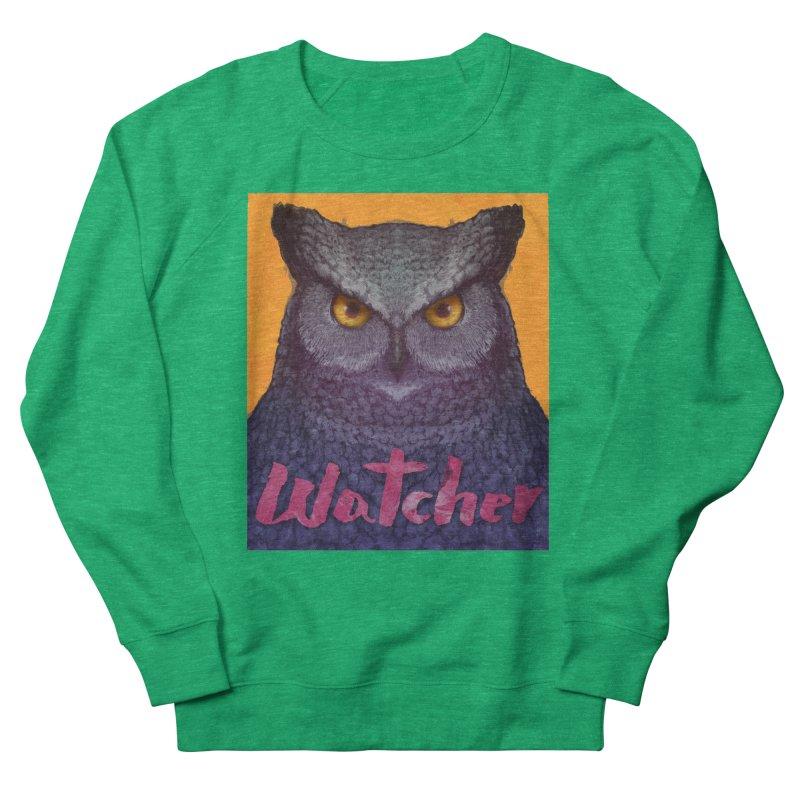 Owl Watcher Women's Sweatshirt by villainmazk's Artist Shop