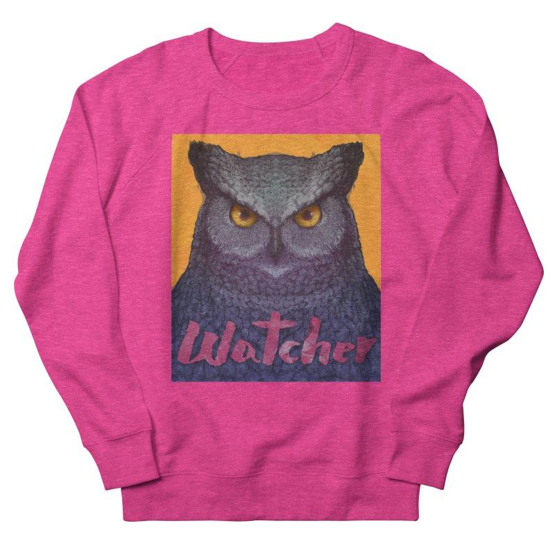 Owl Watcher Men's Sweatshirt by villainmazk's Artist Shop