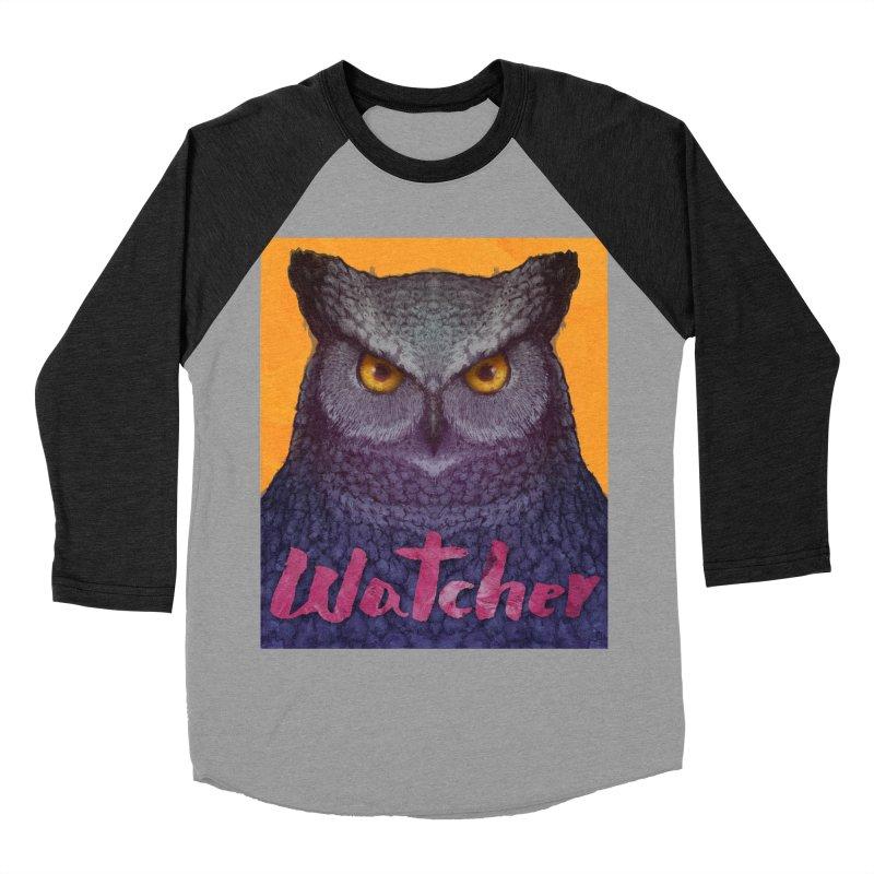 Owl Watcher Women's Baseball Triblend T-Shirt by villainmazk's Artist Shop