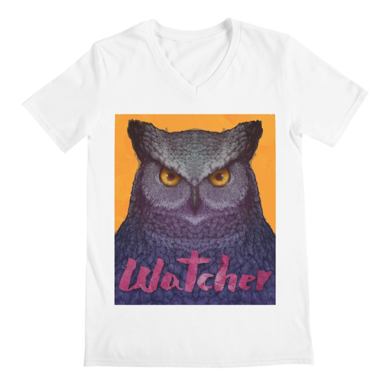 Owl Watcher Men's V-Neck by villainmazk's Artist Shop