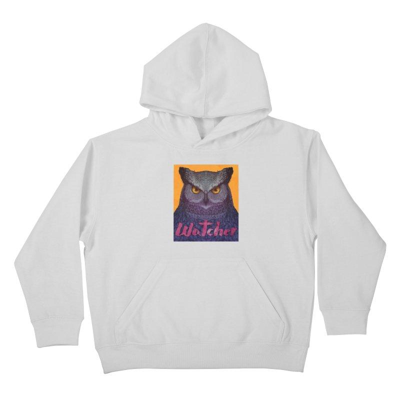 Owl Watcher Kids Pullover Hoody by villainmazk's Artist Shop