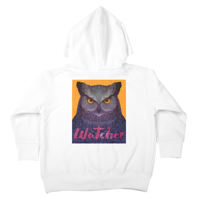 Owl Watcher Kids Toddler Zip-Up Hoody by villainmazk's Artist Shop
