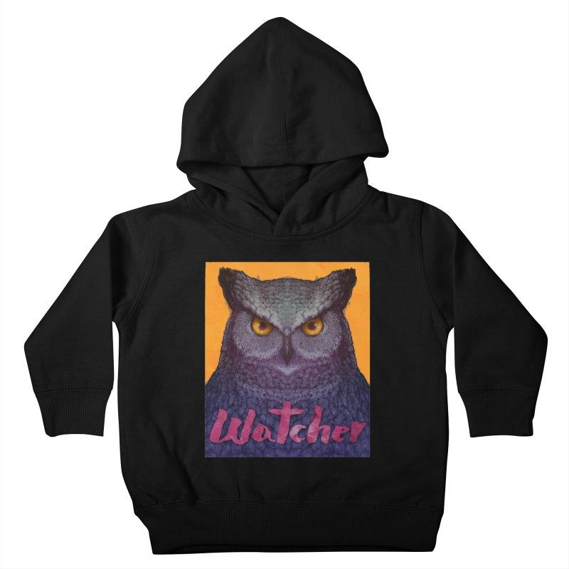Owl Watcher Kids Toddler Pullover Hoody by villainmazk's Artist Shop