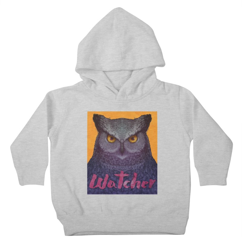 Owl Watcher Kids Toddler Pullover Hoody by villainmazk's Artist Shop
