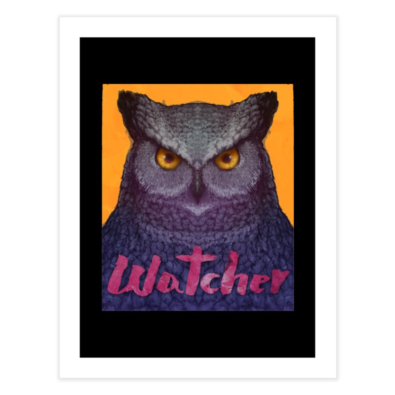 Owl Watcher Home Fine Art Print by villainmazk's Artist Shop