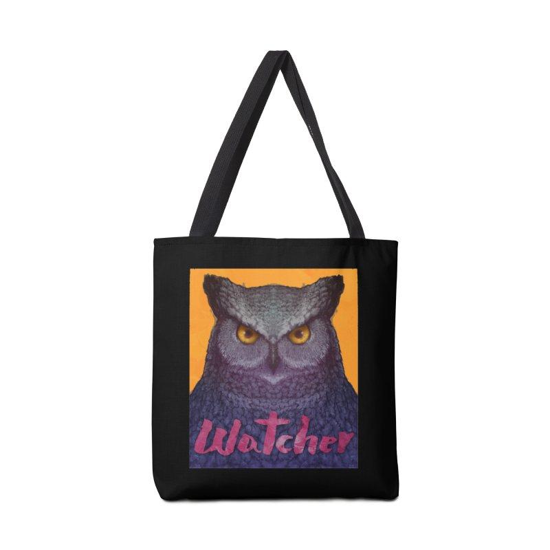 Owl Watcher Accessories Bag by villainmazk's Artist Shop