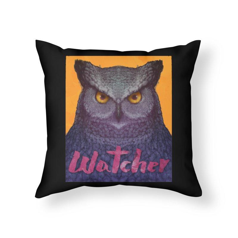 Owl Watcher Home Throw Pillow by villainmazk's Artist Shop