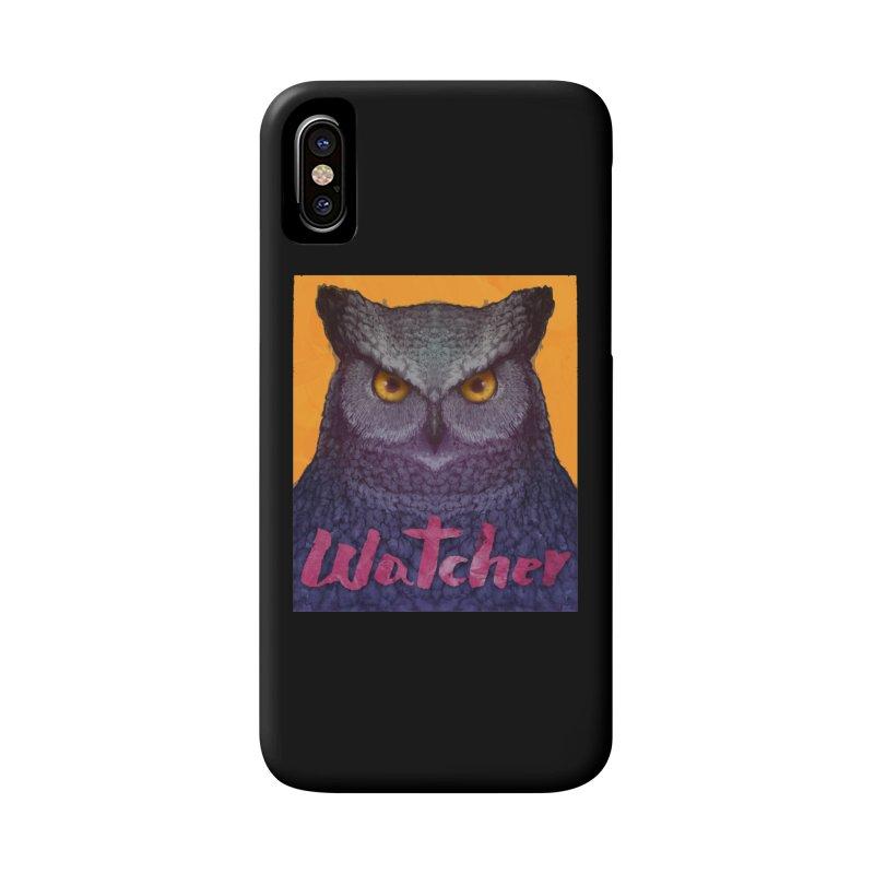 Owl Watcher Accessories Phone Case by villainmazk's Artist Shop