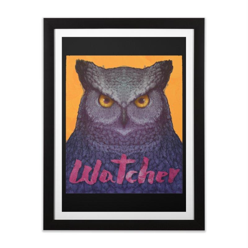 Owl Watcher Home Framed Fine Art Print by villainmazk's Artist Shop