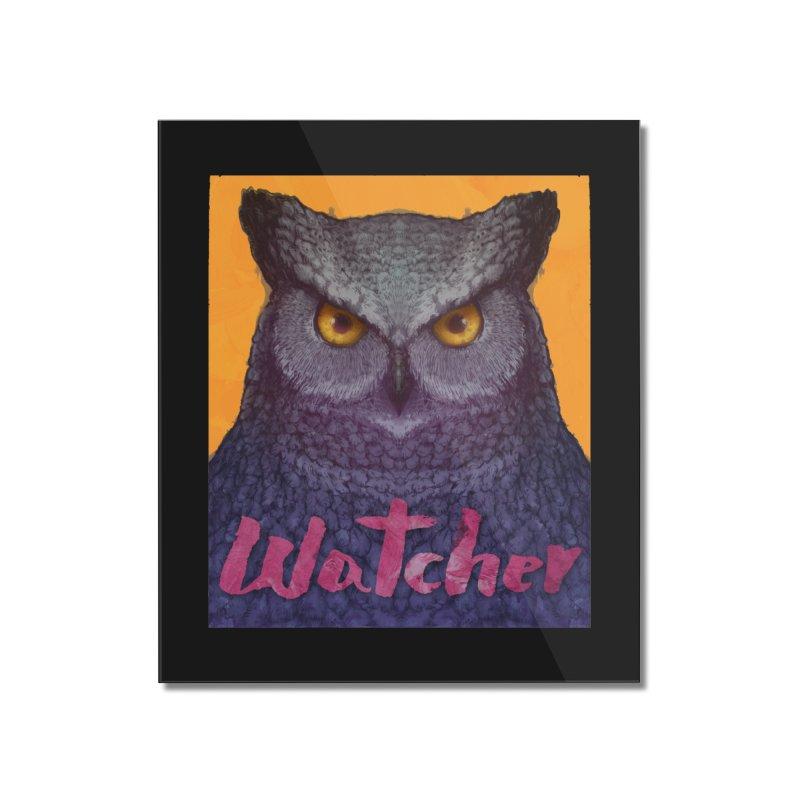 Owl Watcher Home Mounted Acrylic Print by villainmazk's Artist Shop