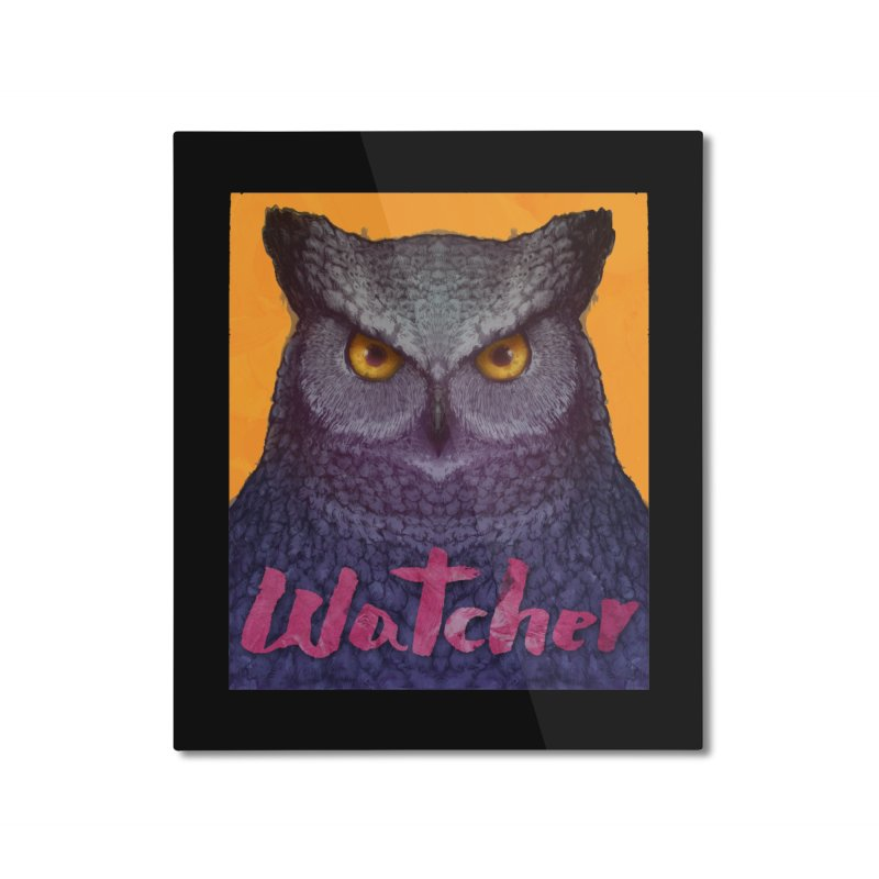 Owl Watcher Home Mounted Aluminum Print by villainmazk's Artist Shop