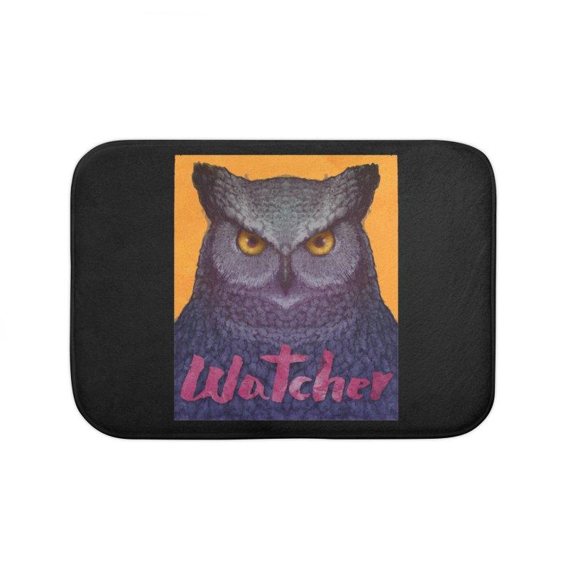 Owl Watcher Home Bath Mat by villainmazk's Artist Shop