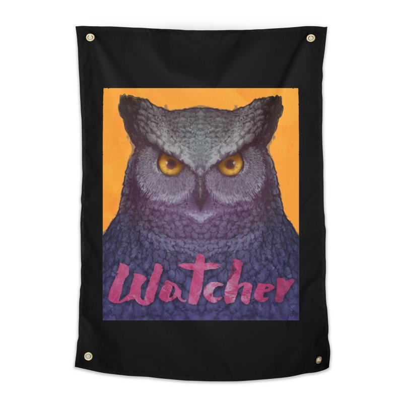 Owl Watcher Home Tapestry by villainmazk's Artist Shop