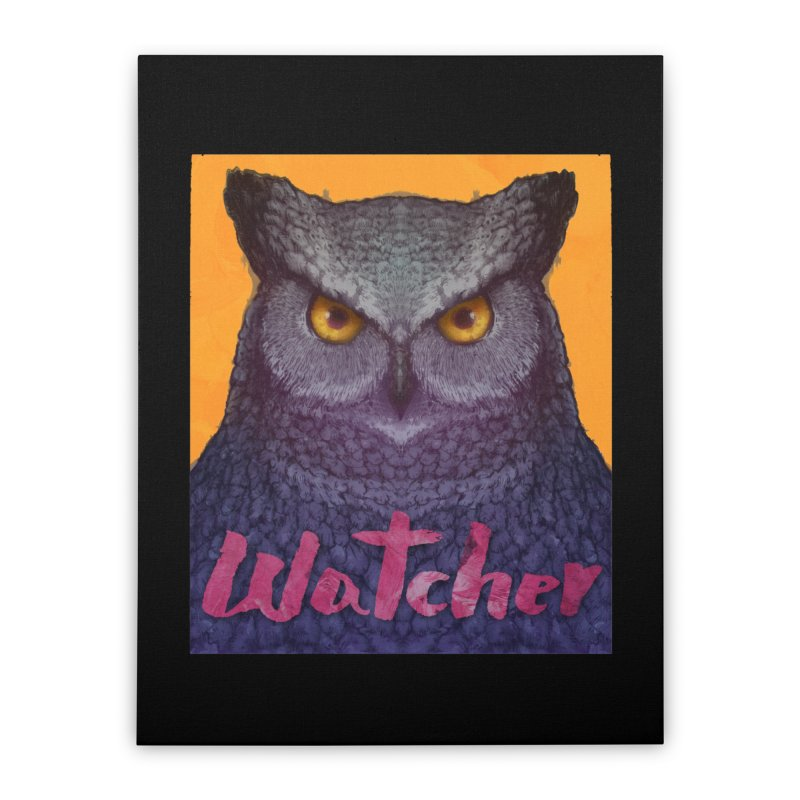 Owl Watcher Home Stretched Canvas by villainmazk's Artist Shop