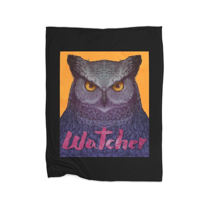 Owl Watcher Home Blanket by villainmazk's Artist Shop