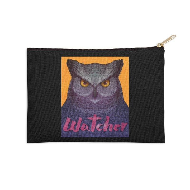 Owl Watcher Accessories Zip Pouch by villainmazk's Artist Shop