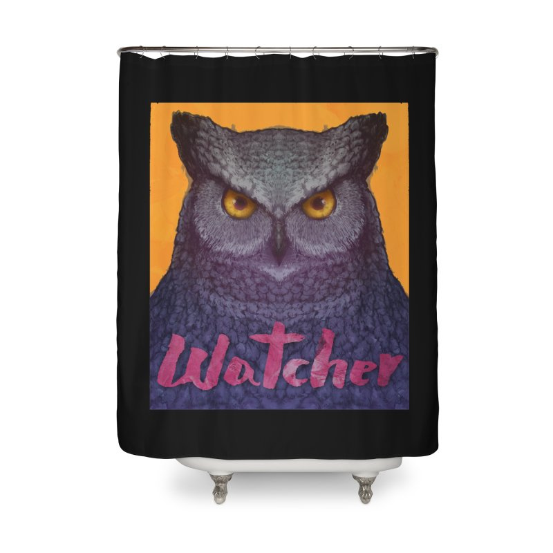 Owl Watcher Home Shower Curtain by villainmazk's Artist Shop