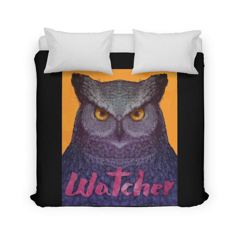Owl Watcher Home Duvet by villainmazk's Artist Shop