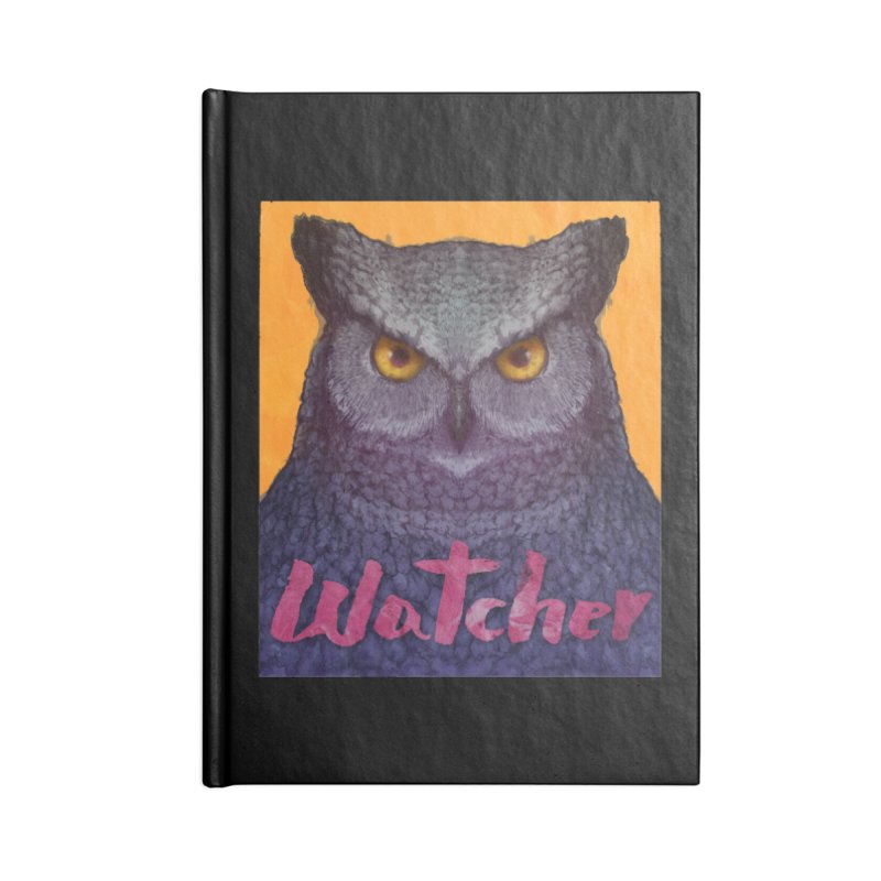 Owl Watcher Accessories Notebook by villainmazk's Artist Shop