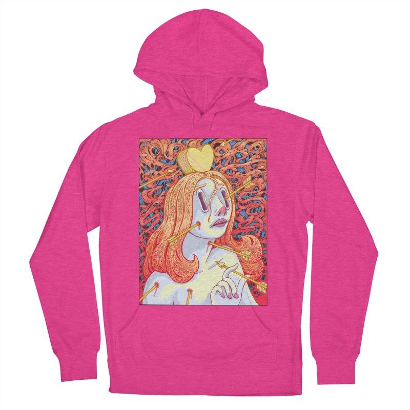 Heart Attack Women's French Terry Pullover Hoody by villainmazk's Artist Shop