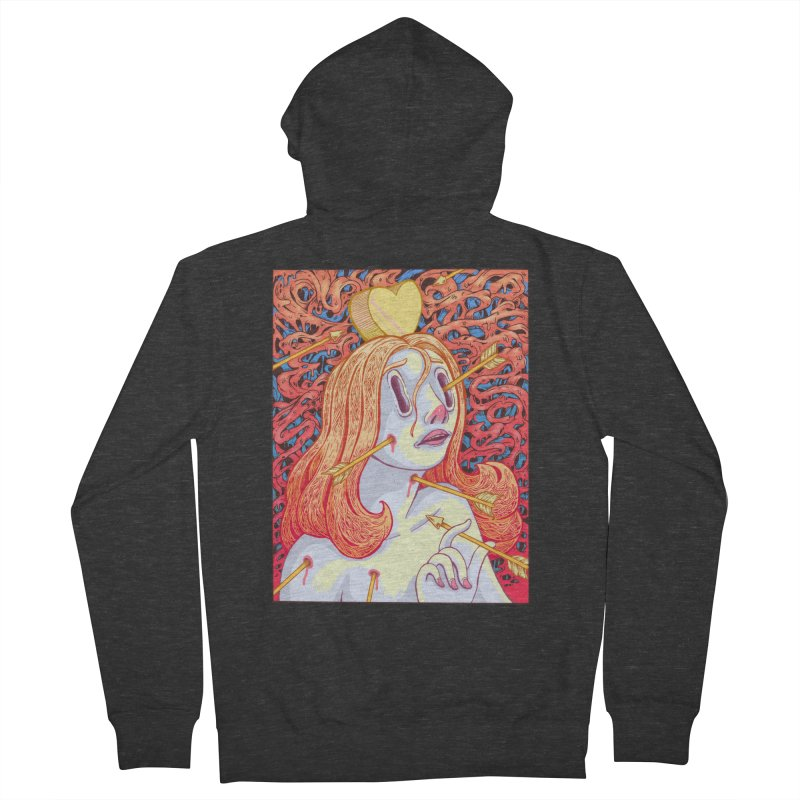Heart Attack Women's French Terry Zip-Up Hoody by villainmazk's Artist Shop
