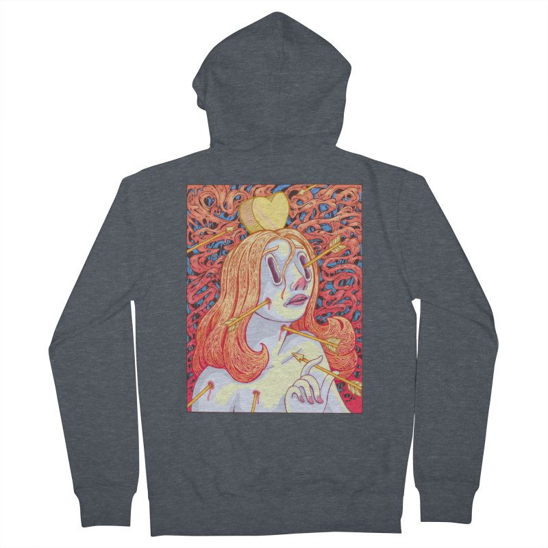 Heart Attack Men's Zip-Up Hoody by villainmazk's Artist Shop
