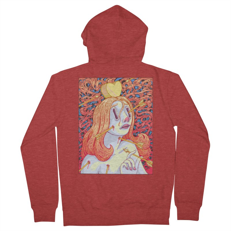Heart Attack Men's French Terry Zip-Up Hoody by villainmazk's Artist Shop