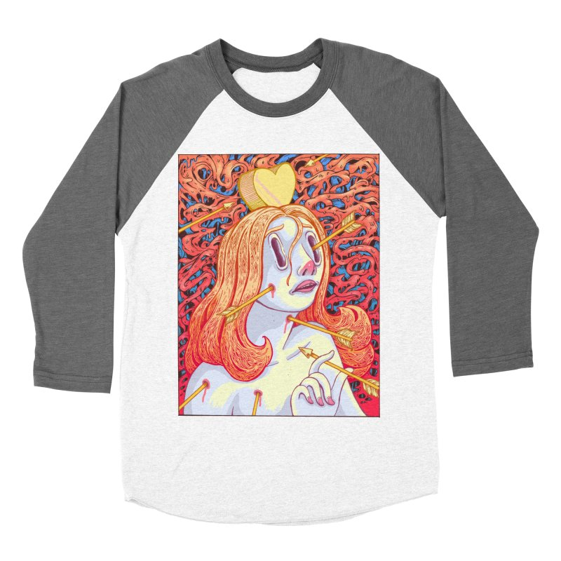 Heart Attack Men's Baseball Triblend T-Shirt by villainmazk's Artist Shop