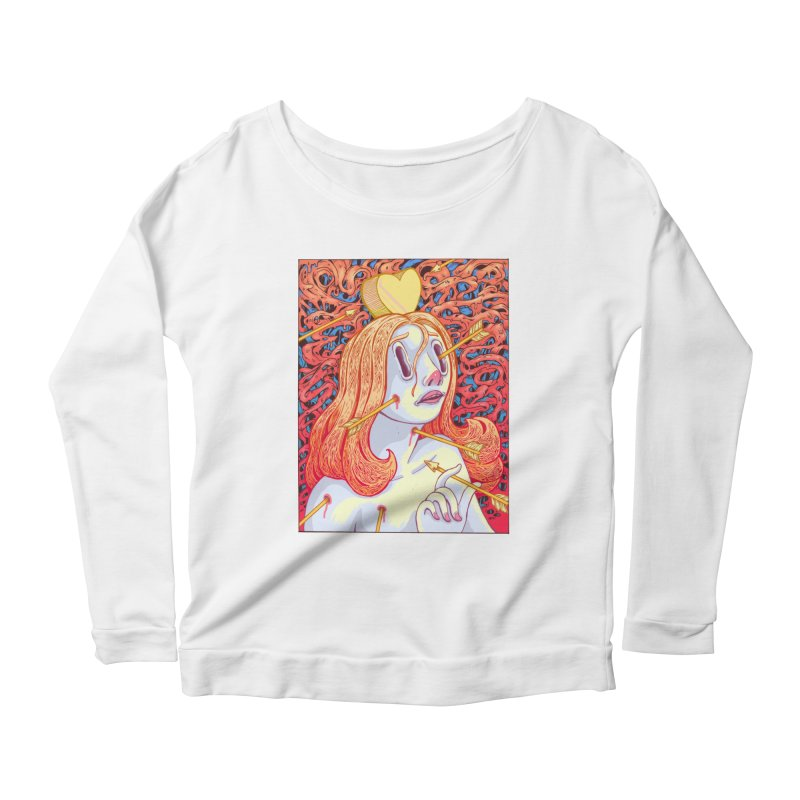 Heart Attack Women's Longsleeve Scoopneck  by villainmazk's Artist Shop