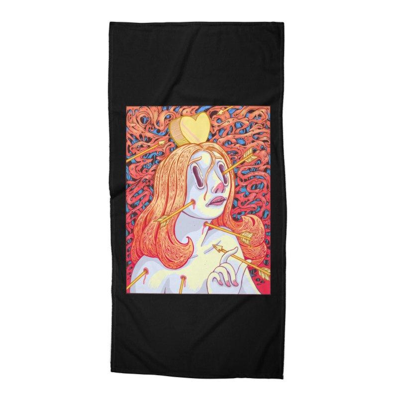 Heart Attack Accessories Beach Towel by villainmazk's Artist Shop