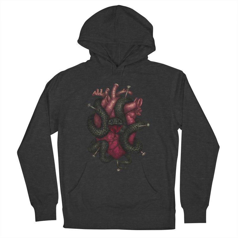 Black Heart Women's Pullover Hoody by villainmazk's Artist Shop