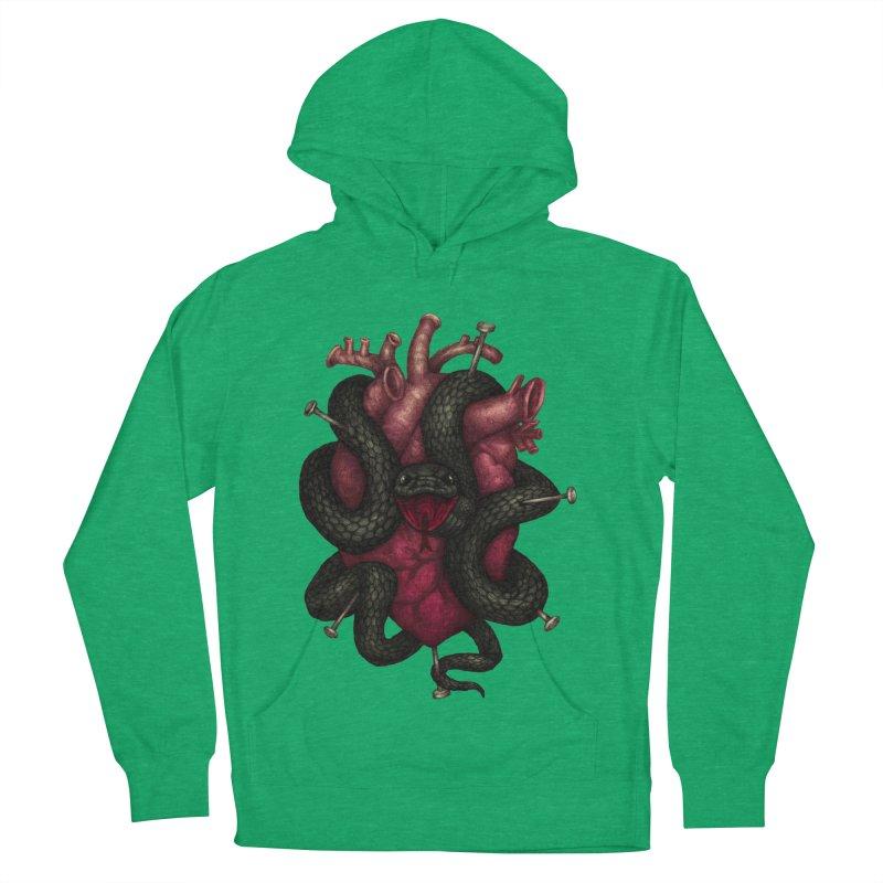 Black Heart Men's Pullover Hoody by villainmazk's Artist Shop