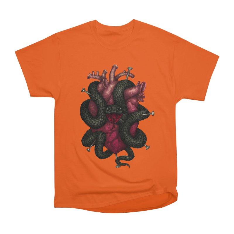 Black Heart Men's Classic T-Shirt by villainmazk's Artist Shop
