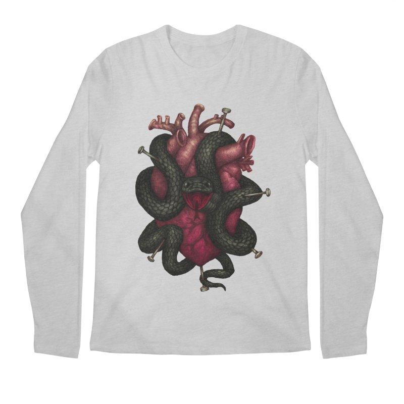 Black Heart Men's Longsleeve T-Shirt by villainmazk's Artist Shop