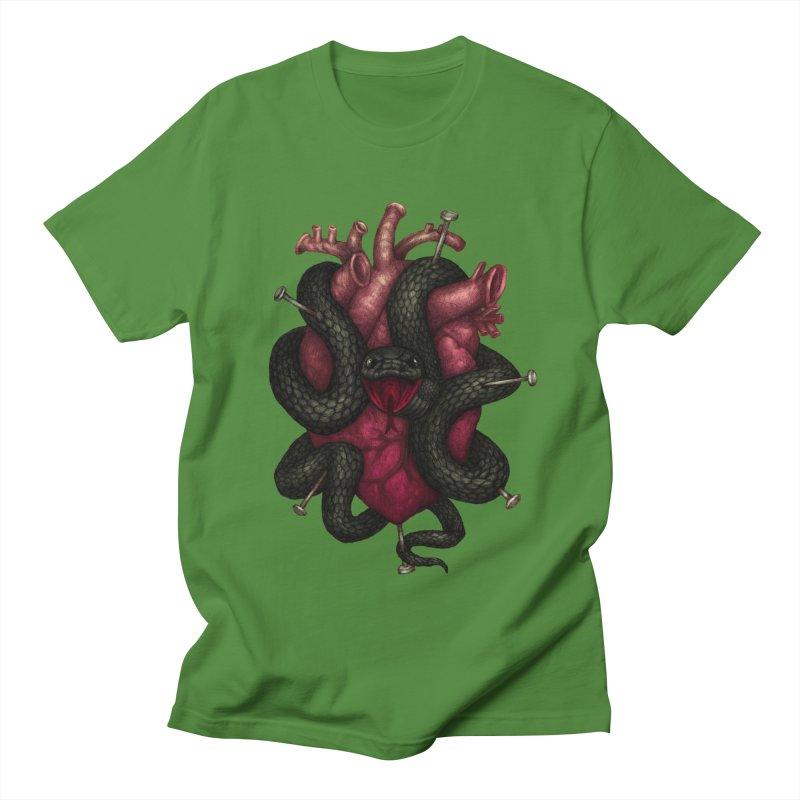Black Heart Men's T-Shirt by villainmazk's Artist Shop