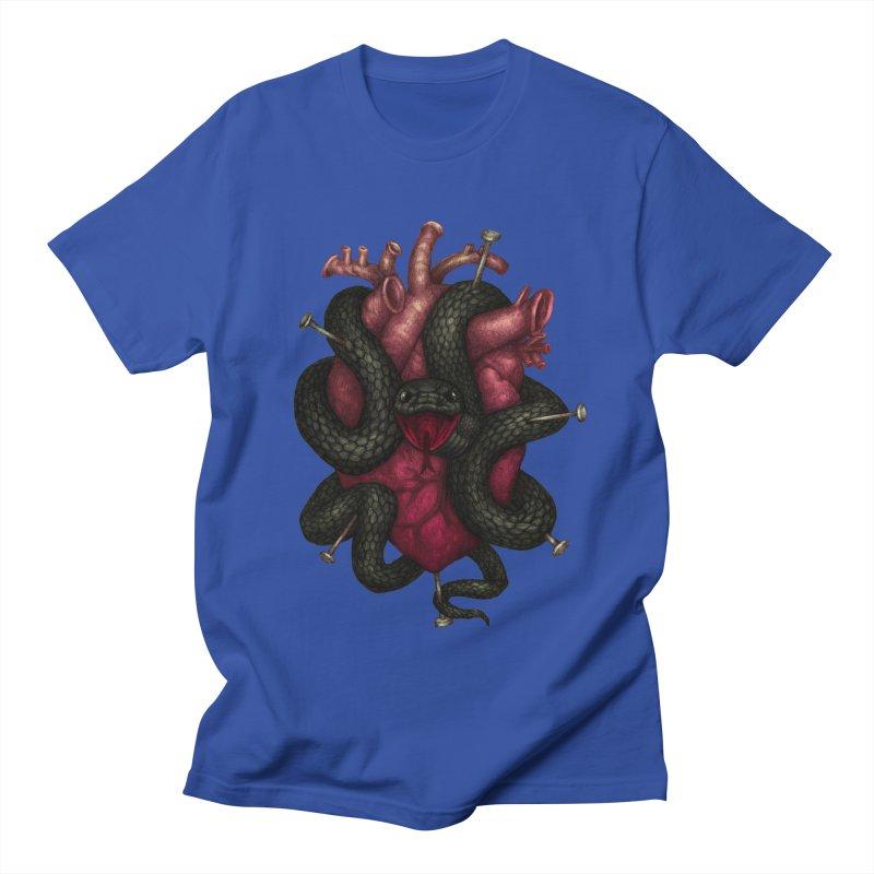 Black Heart Women's Unisex T-Shirt by villainmazk's Artist Shop