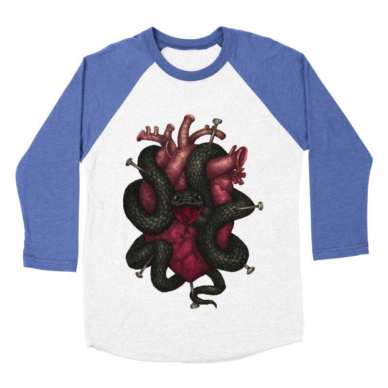 Black Heart Women's Baseball Triblend T-Shirt by villainmazk's Artist Shop