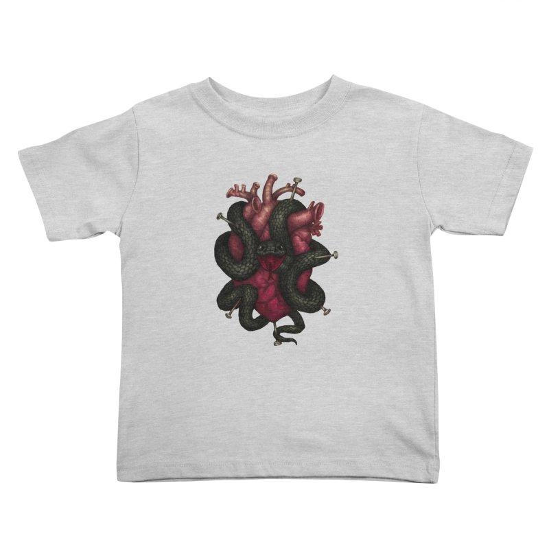 Black Heart Kids Toddler T-Shirt by villainmazk's Artist Shop