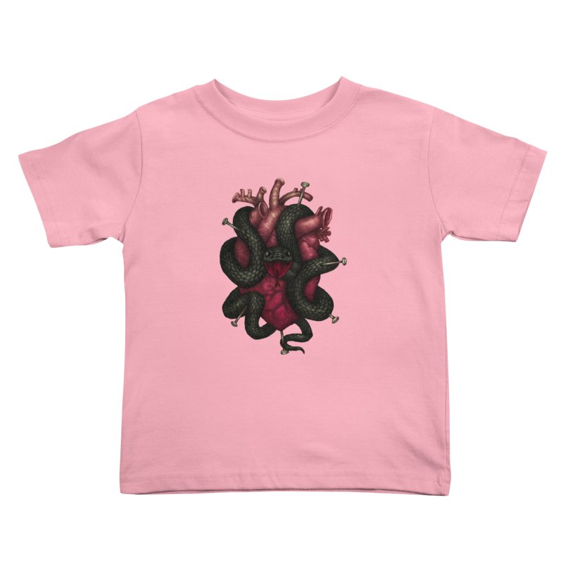 Black Heart Kids Toddler T-Shirt by villainmazk's Artist Shop