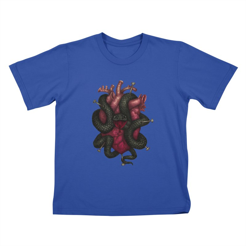 Black Heart Kids T-Shirt by villainmazk's Artist Shop