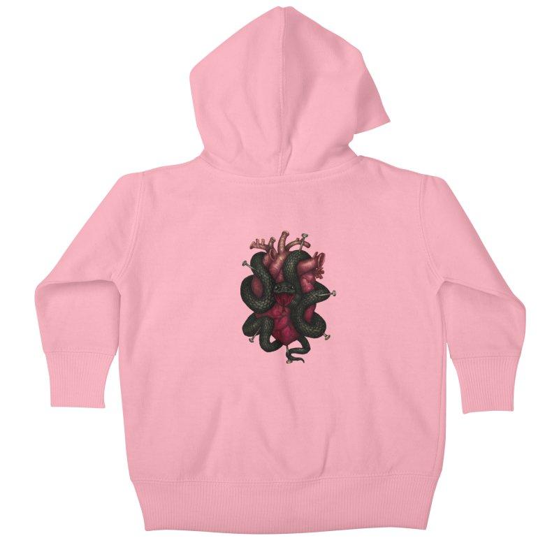 Black Heart Kids Baby Zip-Up Hoody by villainmazk's Artist Shop