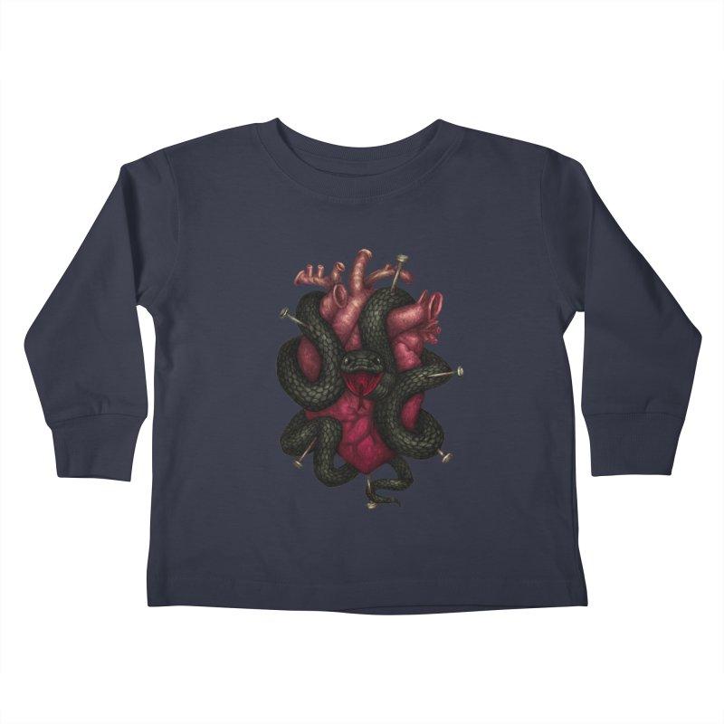 Black Heart Kids Toddler Longsleeve T-Shirt by villainmazk's Artist Shop
