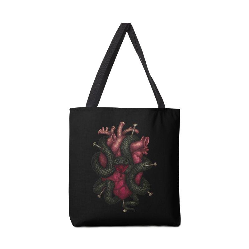 Black Heart Accessories Tote Bag Bag by villainmazk's Artist Shop