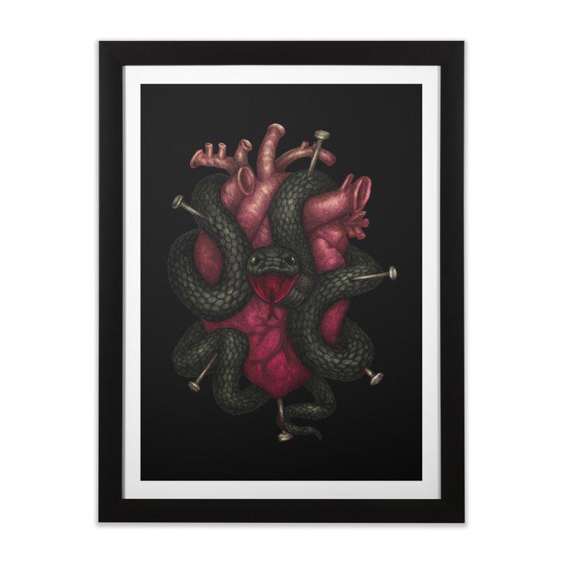 Black Heart Home Framed Fine Art Print by villainmazk's Artist Shop